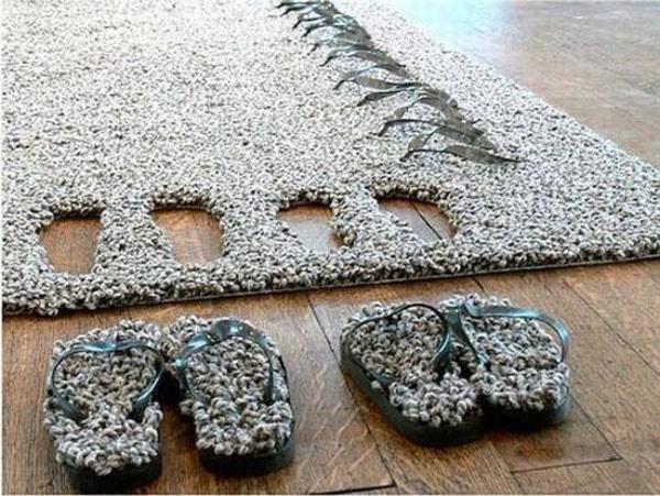 Šlepetės iš kilimo
