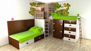 Namelis medyje vaiko kambaryje 1