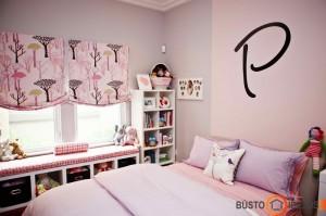Pastelinis rožinis kambarys, kupinas švelnumo ir ramybės