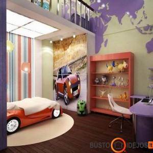 Neapkrautas ir tvarkingas vaiko kambarys