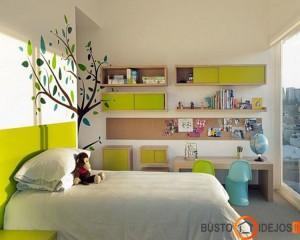 Sienų dekoras išryškina, pagyvina kambarį; medis - vienas iš feng shui energijos elementų