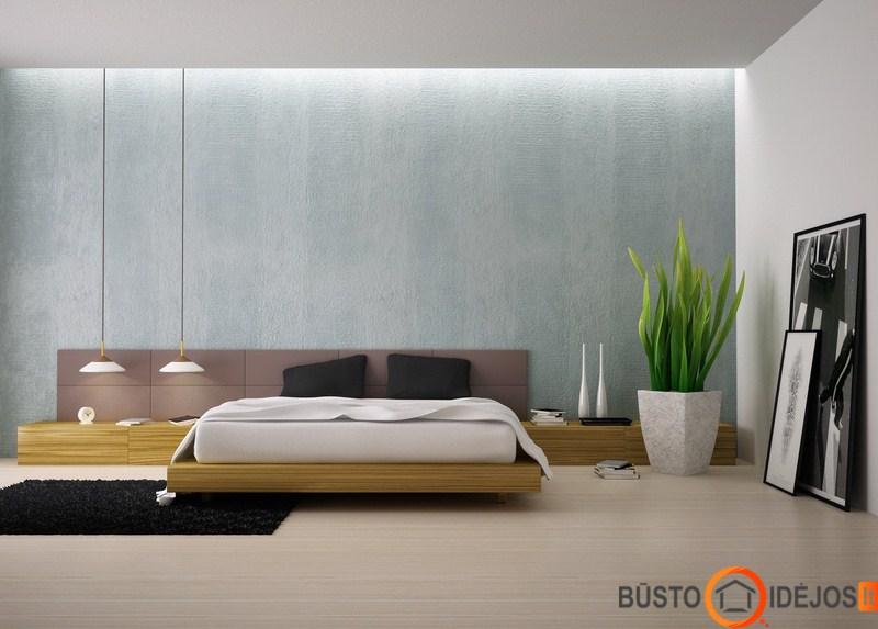Miegamojo baldai modernus interjero stilius for Planimetrie della master suite