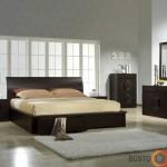 Nepabostantis modernių miegamojo baldų komplektas