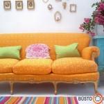 Oranžinė ir kitos pavasarinės spalvos - šiltas ir jaukus interjeras