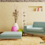 Kelių spalvų vazos labai pagyvina skandinaviško stiliaus interjerą