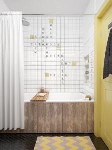 Originalios plytelės vonios kambaryje
