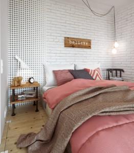 Modernus stilius ir miegamajame