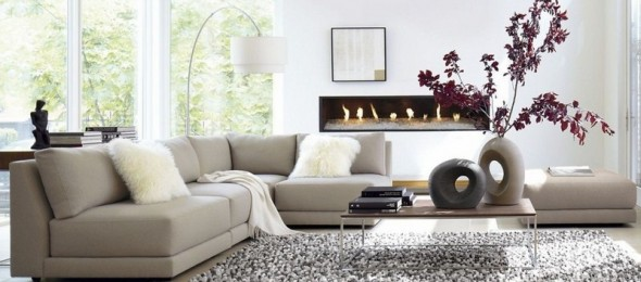 Svetaines baldai - minimalsitinis interjeras