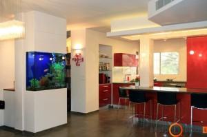 Jūrinio akvariumo idealiausia vieta praėjimuose
