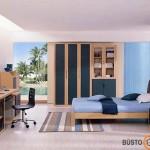Klasikinis darbo zonos miegamajame pavyzdys