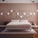 Išskirtinė miegamojo siena
