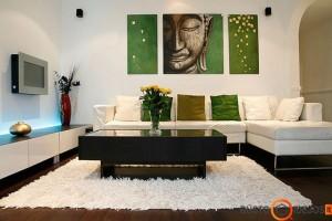 Tiek baldus, tiek ir paveikslus komponuokite grupelėmis