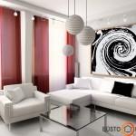 Didelis paveikslas diktuoja spalvų gamą
