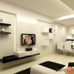 Balta - pati populiariausia minimalistiniame interjere, prie jos puikiai išryškėja kiti baldai