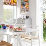 Skandinaviško stiliaus valgomajam išnykti interjere neleidžia išskirtinis baldų dizainas