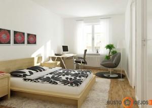Ilgame miegamajame puiki išeitis įrengti ir darbo zoną