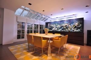 Valgomojo puošmena - puikus akvariumas