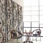 Sienos dekoras iš ratlankių