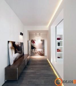 Intensyvus lubų, grindų apšvietimas ir bra