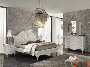 Įspūdingos sienos, grindys ir lova