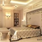 Pastelinių spalvų erdvus miegamasis
