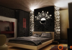 Idealus glamūrinio miegamojo pavyzdys