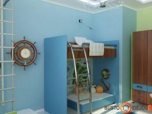 Jūros mėlynė vaiko kambaryje