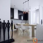 Nenuobodus ir tvarkingas virtuvės su langu interjeras