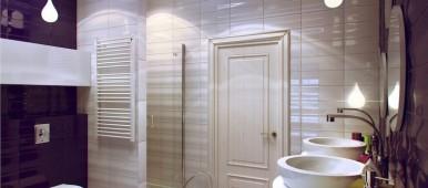 Mažos vonios interjeras