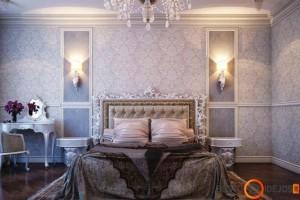 Išskirtinis sienų dekoras ir lovos rėmas. Prabangi tekstilė