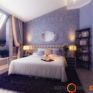 Palėpėje įrengtas glamūrinis miegamasis