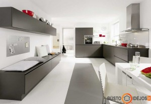 Netradiciškai išdėstyta virtuvė