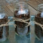 Žvakidė su kavos pupelėmis