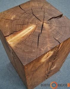 Išpjautas kvadratinis staliukas