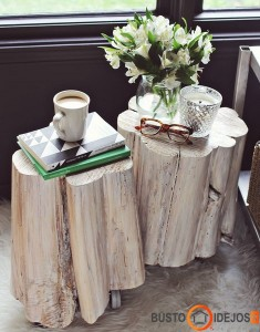 Be galo originalus medžio kamienas, tad toks ir staliukas