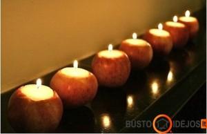 Originali idėja su obuoliais