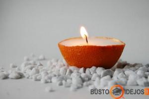 Žvakė apelsino žievelėje