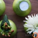 Specialiu įrankiu išėmus obuolio vidų, galima patalpinti žvakutę