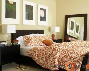 Oranžinė patalynė - mažytis akcentas