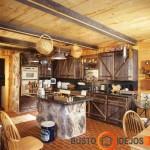 Itin kaimiško stiliaus virtuvės spintelės