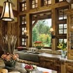 Organiškas ir jaukus virtuvės interjeras sodyboje