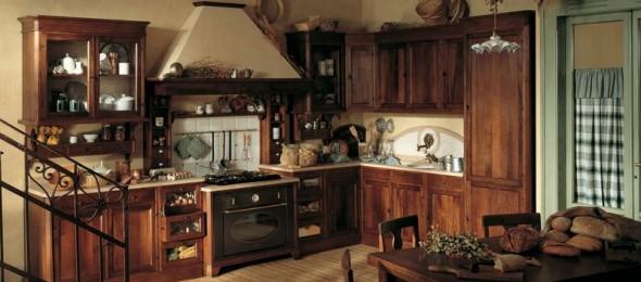 Kaimiškas (kantri) stilius virtuvėje, sodyboje