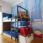 Laivą primenanti lova vaikams