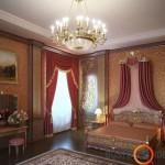 Sienų dekoras užduoda toną kambario baldams ir tekstilei
