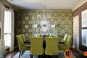 Tapetų ir baldų spalva dera tarpusavyje