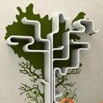 Futuristinė lentyna - medis