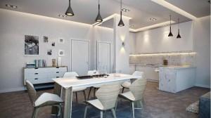 Išskirtinio dizaino valgomojo kėdės bei stalas