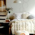 Megztos pagalvėlės ir lovatiesė