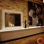 Ugnis apsaugota minimalia stikline sienute