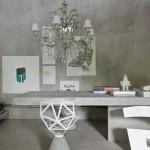 Futuristiniame stiliuje grakštumo suteikia klasikinis šviestuvas